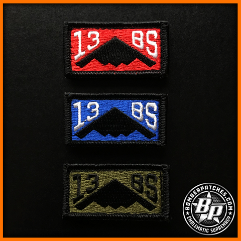 13th Bomb Squadron Pencil Tab Morale Patch Set