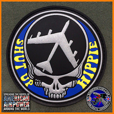 69th BOMB SQUADRON SHUT UP HIPPIE PVC Morale Patch