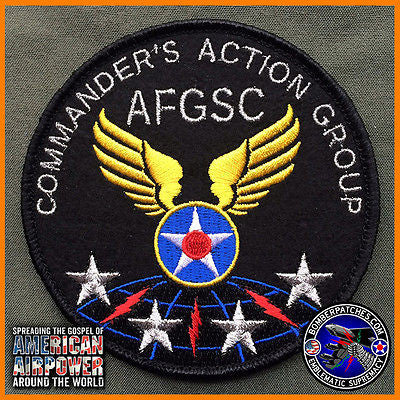 AIR FORCE GLOBAL STRIKE COMMAND COMMANDER'S ACTION GROUP PATCH