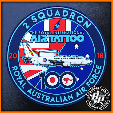 2 Squadron RAAF Royal Australian Air Force RIAT 2018 Royal International Air Tattoo PVC Patch