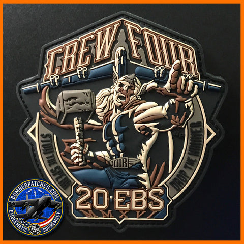 20th Expeditionary Bomb Squadron Crew 4 PVC Deployment Patch