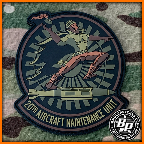 20th Aircraft Maintenance Unit PVC Morale Patch OCP