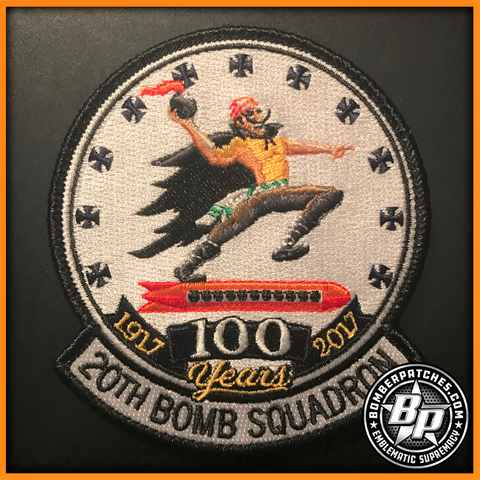 20TH BOMB SQUADRON 100TH ANNIVERSARY PATCH, B-52 STRATOFORTRESS, BARKSDALE AFB