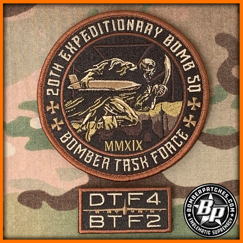 "20th Expeditionary Bomb Squadron ""Bomber Task Force"" 2019 Patch and Tab set, LIMITED RELEASE"