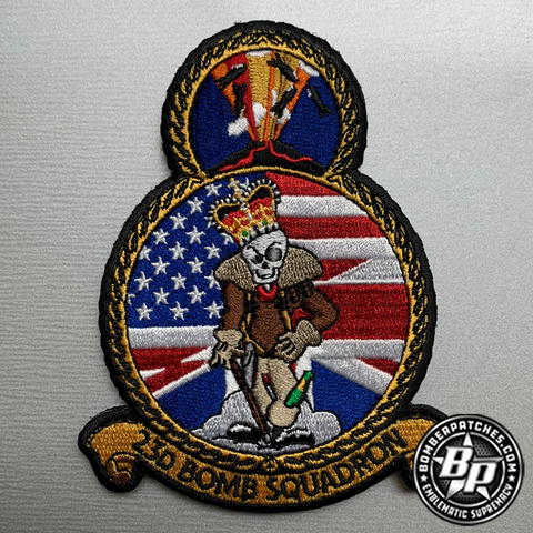 23d Bomb Squadron Bomber Task Force 2020 Embroidered, Full color