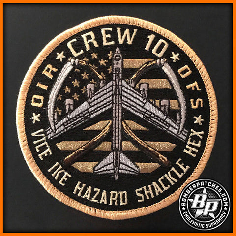 23d EBS CREW 10 EMBROIDERED PATCH OIR 2017 B-52H
