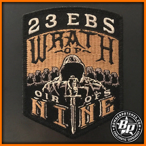 23 EBS CREW 9 EMBROIDERED PATCH OIR 2017 B-52H