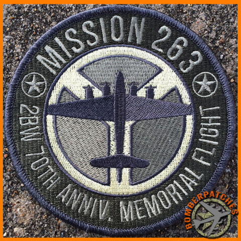 Mission 263 70th Anniv Memorial Patch