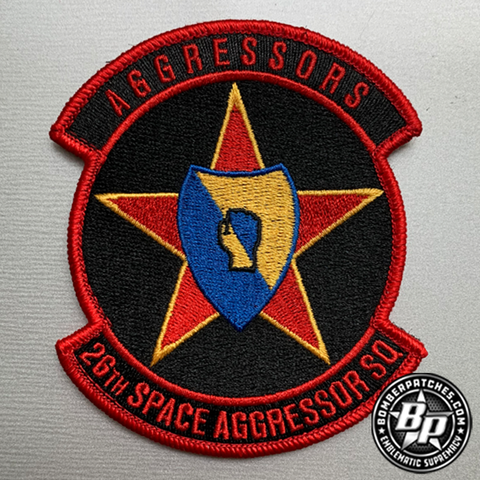 26th Space Aggressor Squadron, Embroidered, Full Color