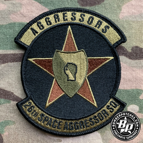 26th Space Aggressor Squadron, Embroidered, OCP