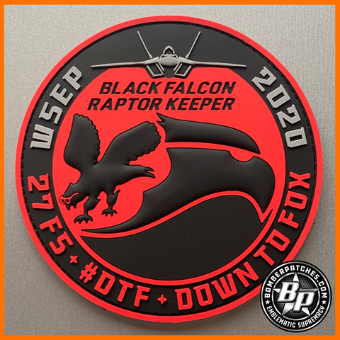 27th Fighter Squadron Black Falcon Raptor Keeper, F-22 WSEP 2020, Maintenance Version