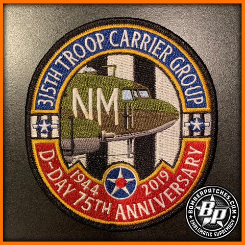 315th Troop Carrier Group D-Day 75th Anniversary Commemorative Patch