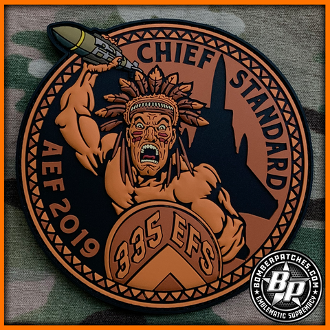 "335th Expeditionary Fighter Squadron AEF 2019 Deployment Patch ""Chief Standard"""