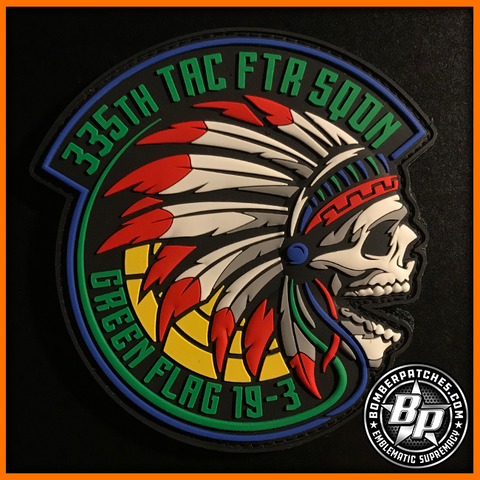 335th Tactical Fighter Squadron Green Flag 19-3 Patch, F-15E Strike Eagle