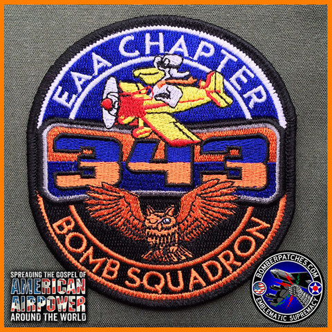 343d Bomb Squadron / Experimental Aircraft Association EAA JOINT PATCH