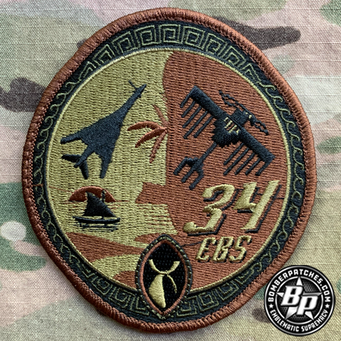 34th Expeditionary Bomb Squadron 2020 Deployment Patch OCP Embroidered