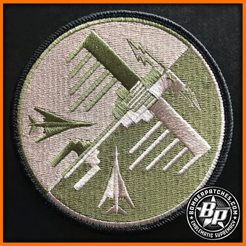 34TH EXPEDITIONARY BOMB SQ THUNDERBIRDS DEPLOYMENT OCP EMBROIDERED PATCH B-1
