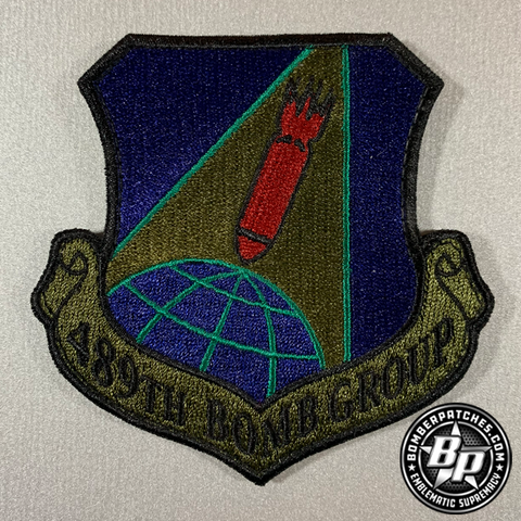 B-1B 489th Bomb Group 307th Bomb Wing Patch Subdued
