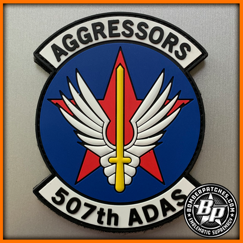 507th Air Defense Aggressor Squadron PVC Patch, Full Color