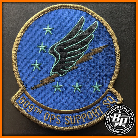 509TH OPERATIONS SUPPORT SQUADRON PATCH SUBDUED B-2 WHITEMAN AFB