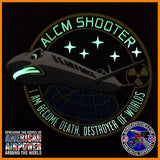 ALCM SHOOTER GLOW IN THE DARK PVC PATCH