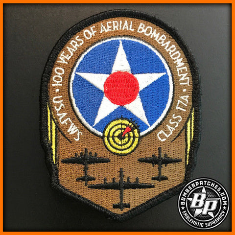 US AIR FORCE B-52 WEAPONS SCHOOL CLASS 17A PATCH, 20TH 23D 69TH 96TH BOMB SQ