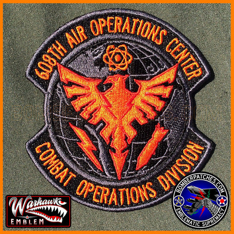 608TH AIR OPERATIONS CENTER COMBAT OPERATIONS DIVISION PATCH