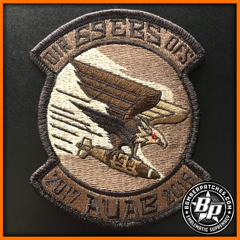 69th EXPEDITIONARY BOMB SQ DEPLOYMENT PATCH 2017 2018 OIR B-52H DESERT SUB AUAB