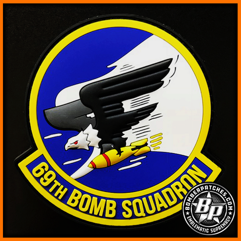69th Bomb Squadron Heritage PVC Patch