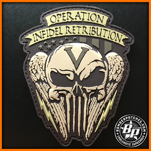 69th Expeditionary Bomb Sq Operation Infidel Retribution PVC Morale Patch, B-52H