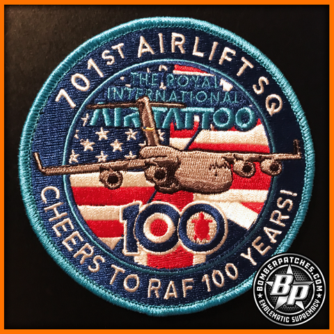 701st Airlift Squadron RIAT Royal International Air Tattoo 2018 Patch, C-17 Globemaster, Charleston AFB South Carolina