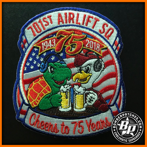 701st Airlift Squadron 75th Anniversary Patch C-17 Globemaster III Charleston
