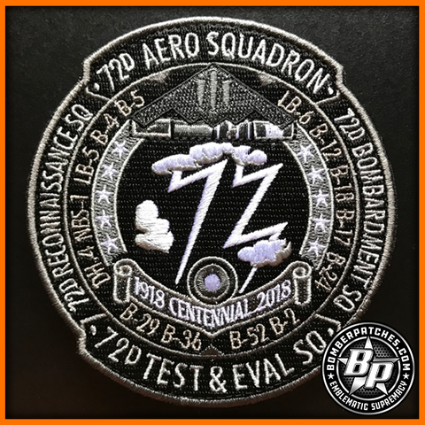 72d TEST AND EVALUATION SQUADRON 100TH ANNIVERSARY PATCH, B-2 WHITEMAN AFB