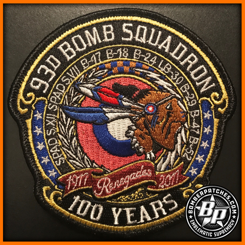 93D BOMB SQUADRON 100TH ANNIVERSARY PATCH B-52 STRATOFORTRESS CREW WORN VERSION