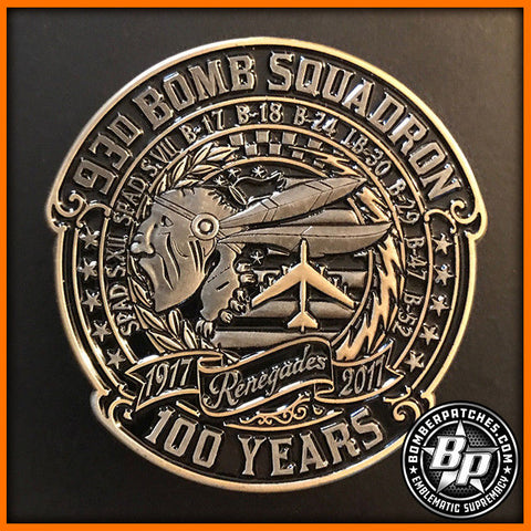 EXCLUSIVE 93d BOMB SQUADRON 100th ANNIVERSARY CHALLENGE COIN, B-52 BARKSDALE AFB