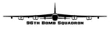 96th Bomb squadron B-52 Front View Vinyl Decal