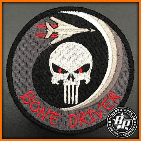 "9TH BOMB SQUADRON ""BONE DRIVER"" EMBROIDERED PATCH, B-1B LANCER DYESS AFB"
