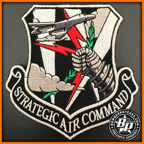 "9TH BOMB SQUADRON SAC STRATEGIC AIR COMMAND PATCH, B-1B LANCER ""BONE"""