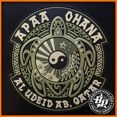 Asian Pacific American Association PVC Deployment Patch, Al Udeid, OCP