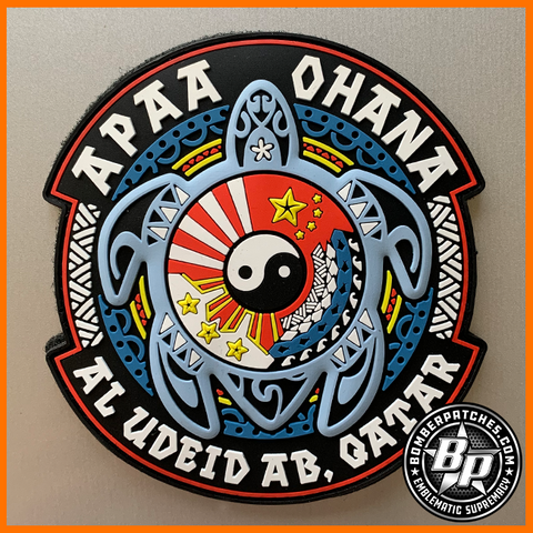 Asian Pacific American Association PVC Deployment Patch, Al Udeid, Full Color