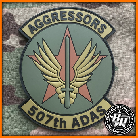 507th Air Defense Aggressor Squadron PVC Patch, OCP