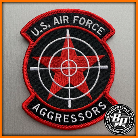64th Aggressor Squadron Patch Color Embroidered