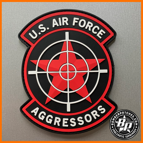 64th Aggressor Squadron Patch Color PVC