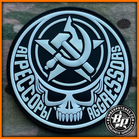 Aggressor Morale Patch, Deadhead Glow in the Dark