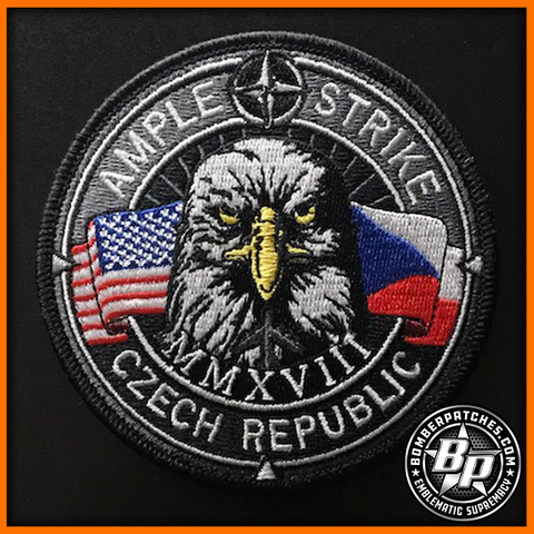 AMPLE STRIKE 2018 PATCH COLOR EMBROIDERED RAF FAIRFORD