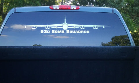 93d Bomb squadron B-52 Front View Vinyl Decal