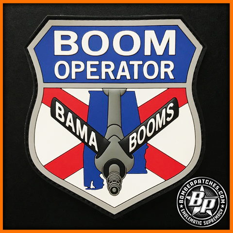 117th Air Refueling Wing Boom Operator PVC Patch, Full Color
