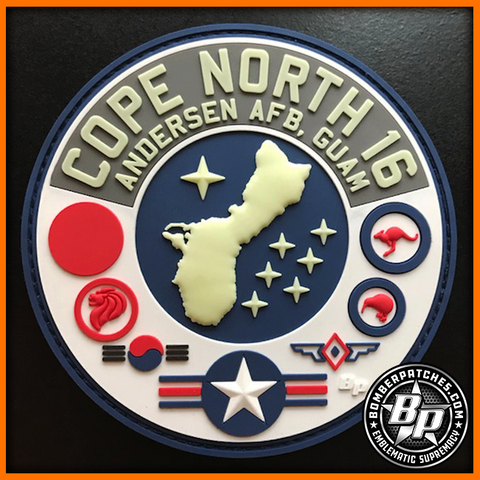 COPE NORTH 2016 PVC Patch, Glow in the Dark