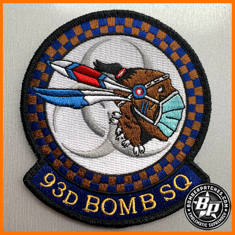 93D Bomb Squadron COVID 19 Morale Patch, Full Color, Barksdale AFB