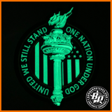 United We Still Stand Liberty Torch Morale Patch, Glow in the Dark